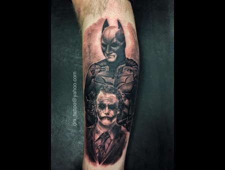 Batman  Joker  Comics  Movie  Film  Portrait  Realism  Realistic Lower Leg