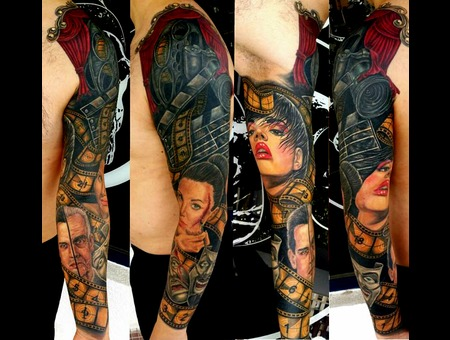Portraits  Cover Up Arm