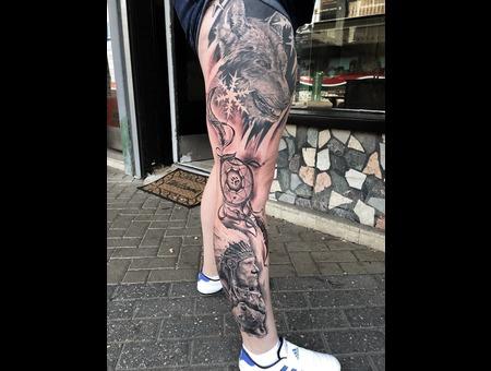 Realism Black Grey Lower Leg