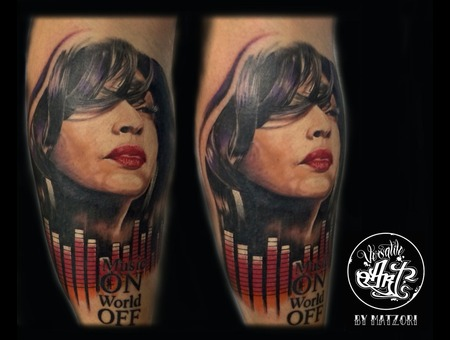 Shade  Portrait  Color  Colorrealistic  Music  Lower Leg