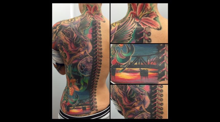 Healed  Color  Colour  Back Piece   Back