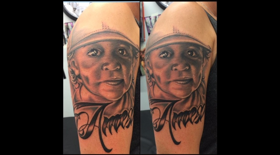Portrait  Realism  Black And Grey   Arm