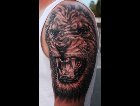 Lion  Black And Grey Black Grey Shoulder