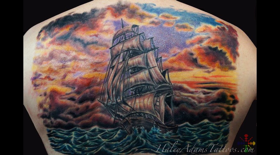 Finished Ship Back Back