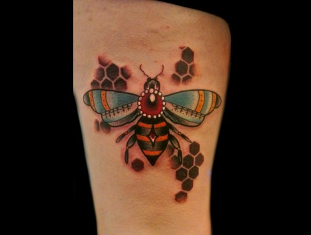 Traditional  Bumble Bee  Honeycomb Thigh