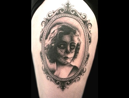 Candy Girll  Portrait  Ornate Frame Thigh