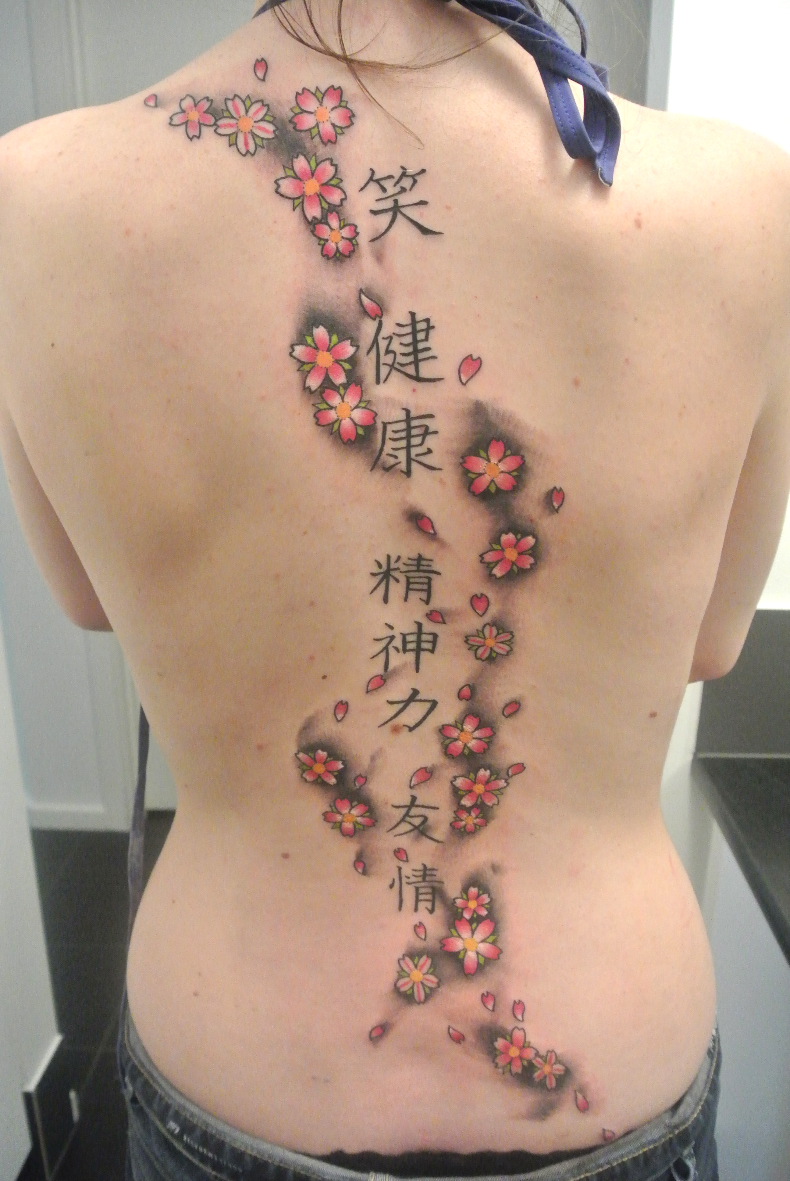 Lou shaw certified artist for Japanese cherry blossom tattoos