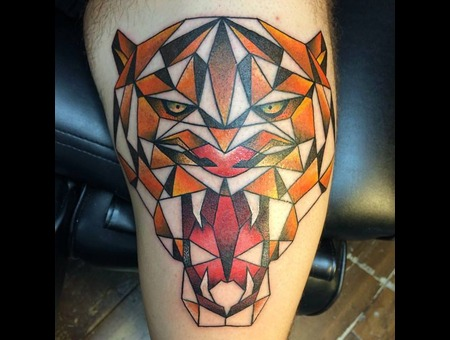Tattoo  Art  Tiger Lower Leg