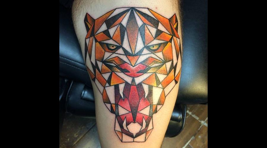 Tattoo  Art  Tiger Lower Leg