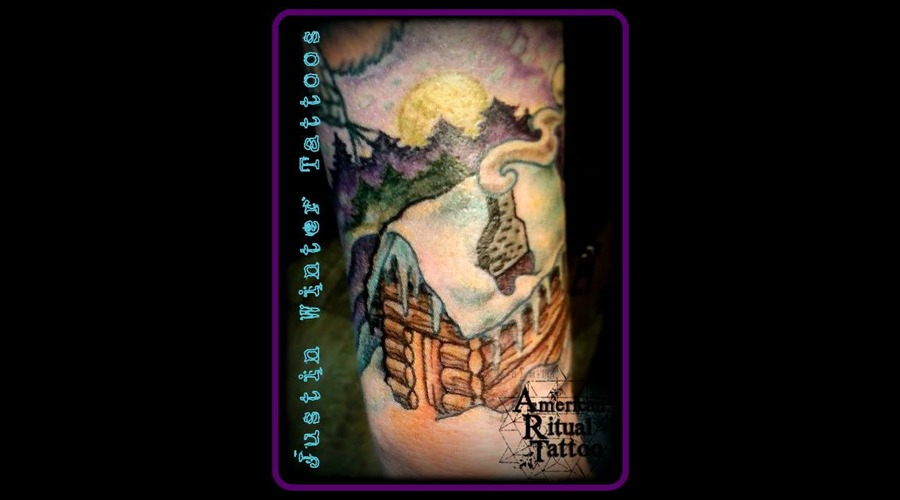 Neotraditional  Cabin  Nature  Camping  Mountains  Woods  420 Forearm