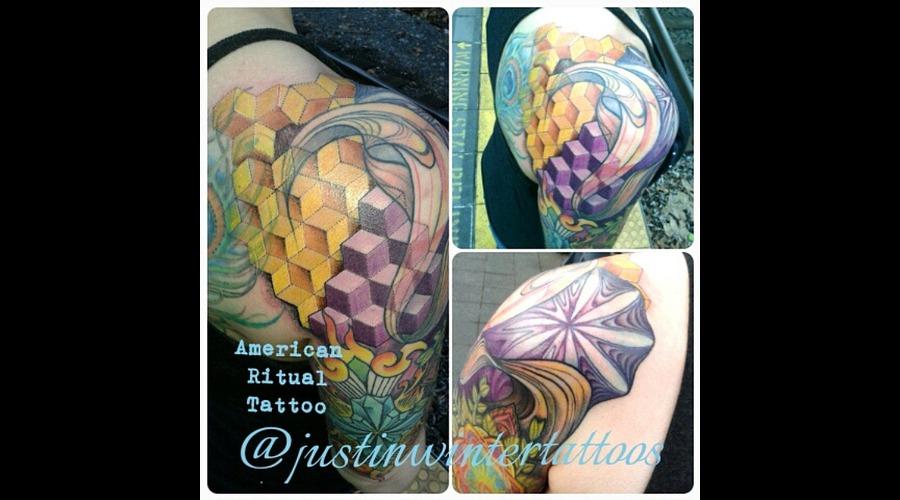 Geometric  Sacred Geometry  Geometric  Manadala  Colorful Arm