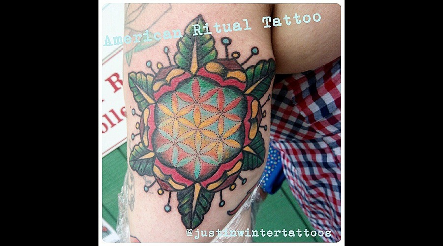 Tradititional  Geometric  Flower Of Life  Mandala  Sacred Geometry Arm