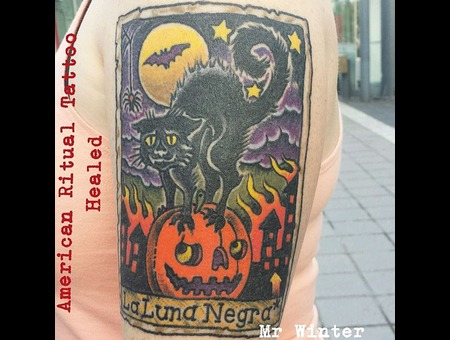 Tarot  Black Cat  Occult  Halloween  Card   Arm