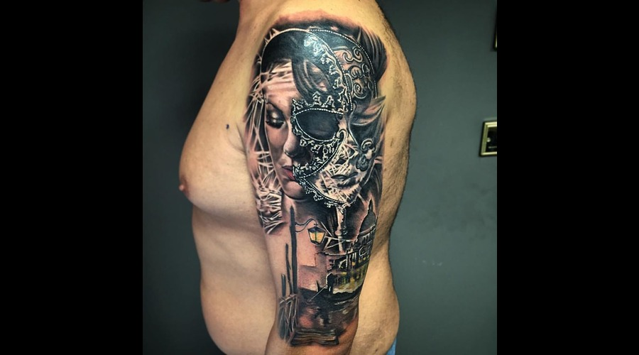 Mask Tattoo  Arm