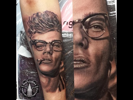 Realistic James Dean Portrait  Famous People   Forearm