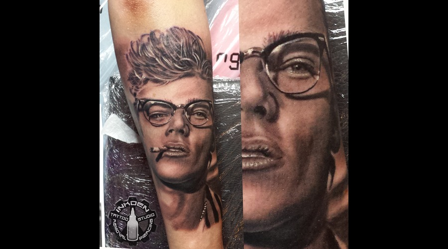 Realistic James Dean Portrait  Famous People   Forearm