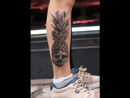 Tattooartist Montreal Gabor Zsil Lower Leg