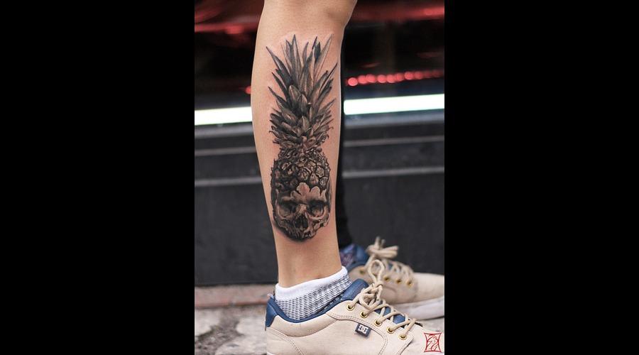 Tattooartist Montreal Gabor Zsil Lower Leg