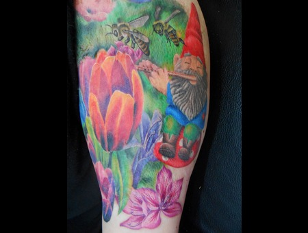 Garden  Flower  Gnome  Bees  Flowers  Nature  Tulip  Burn Cover Up Arm