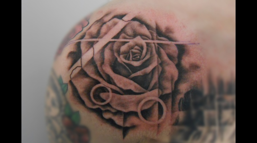 Rose  Flower  Geometric Shoulder