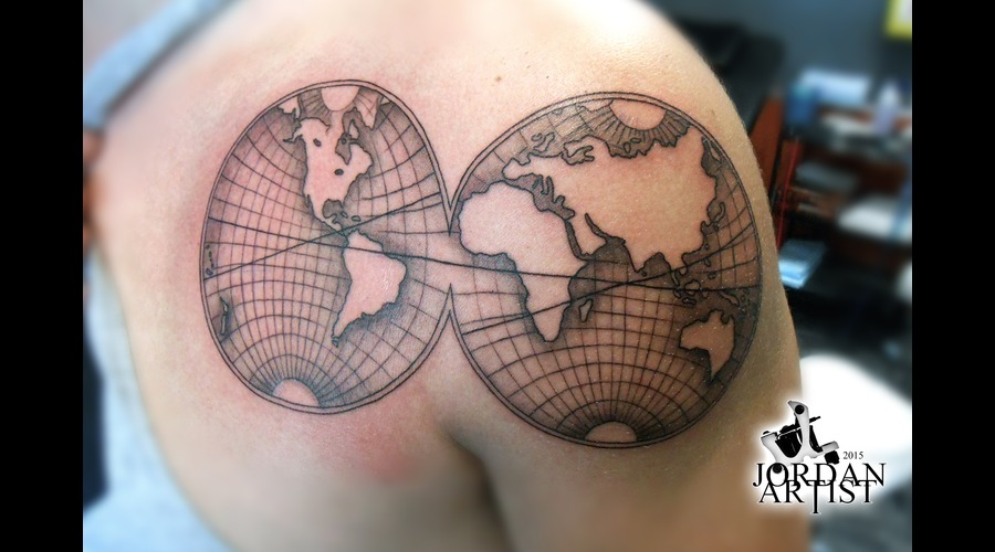 Earth  World  Map  Americas  Africa  Europe  Asia  Australia Shoulder
