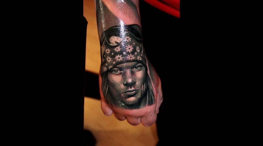 Axl Rose  Portrait  Guns And Roses Forearm