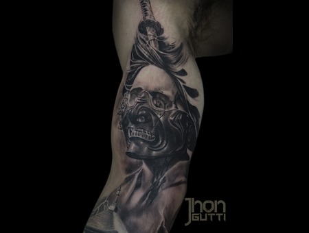 Dead Geisha Tattoo  Skull Geisha  Hanya Mask Tattoo Arm