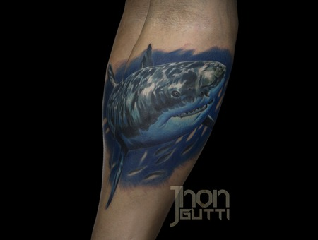 Realistic Shark Tattoo  Color Shark Tattoo   Forearm