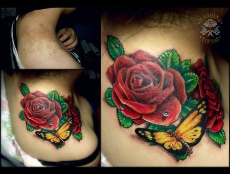 Coverup  Rose  Butterfly Shoulder