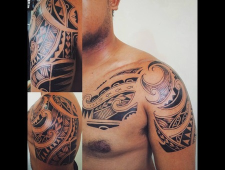 Polynesian Tribal Shoulder
