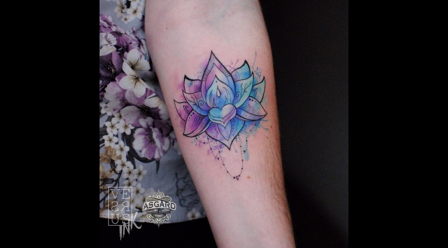 Watercolour  Geometry  Watercolor  Mandala  Art  Lace  Flower  Space  Uk Forearm