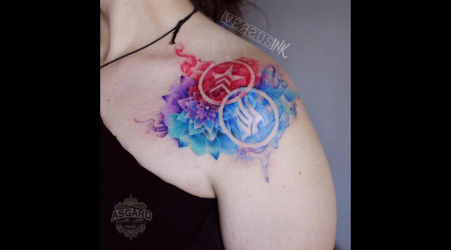 Watercolour  Geometry  Watercolor  Mandala  Art  Lace  Flower  Flowers  Uk Shoulder