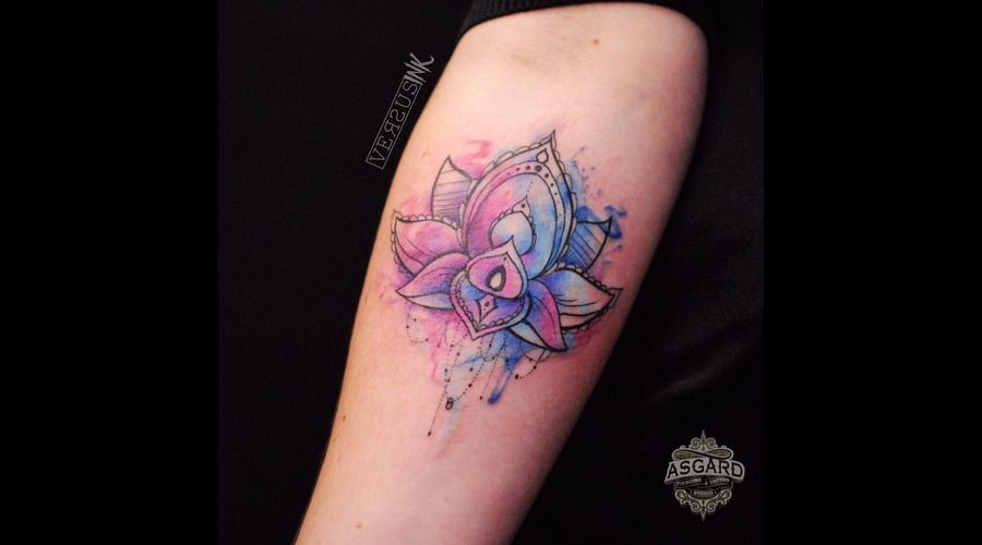 Watercolour  Geometry  Watercolor  Mandala  Art  Lace  Flower  Flowers  Uk Forearm