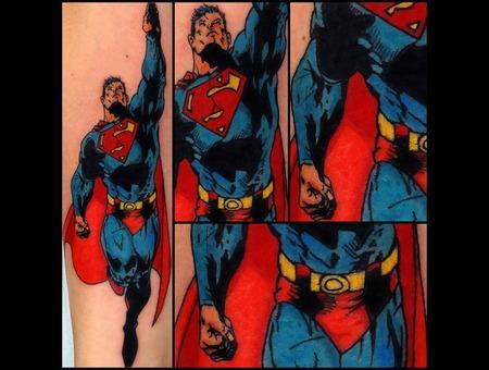 Superman Tattoo Forearm