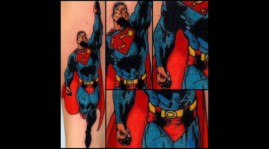 Superman Tattoo Forearm