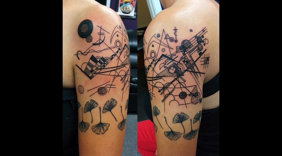 Kandinsky Painting Tattoo Arm