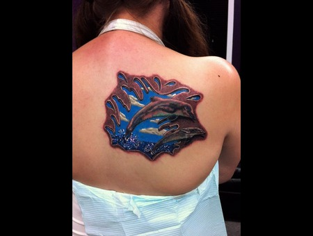 3d Dolphin Tattoo Shoulder
