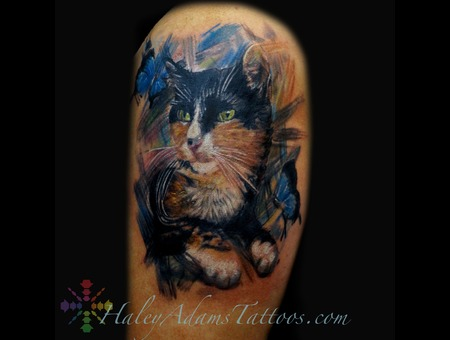 Princess The Cat  Oil Painting Style Arm