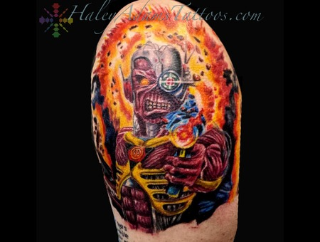 Iron Maiden Eddie Tattoo Arm