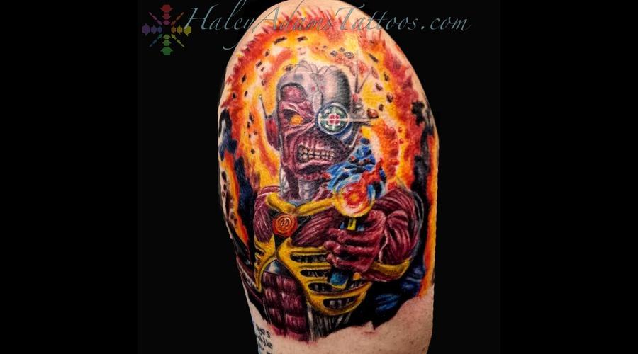 Iron Maiden Eddie Tattoo Arm