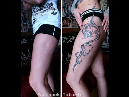 Scars Cover Up By Dimon Taturin Lower Leg