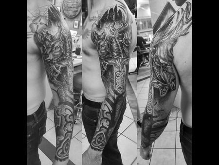 Black And Grey  Stagtattoo  Celtictattoo   Arm