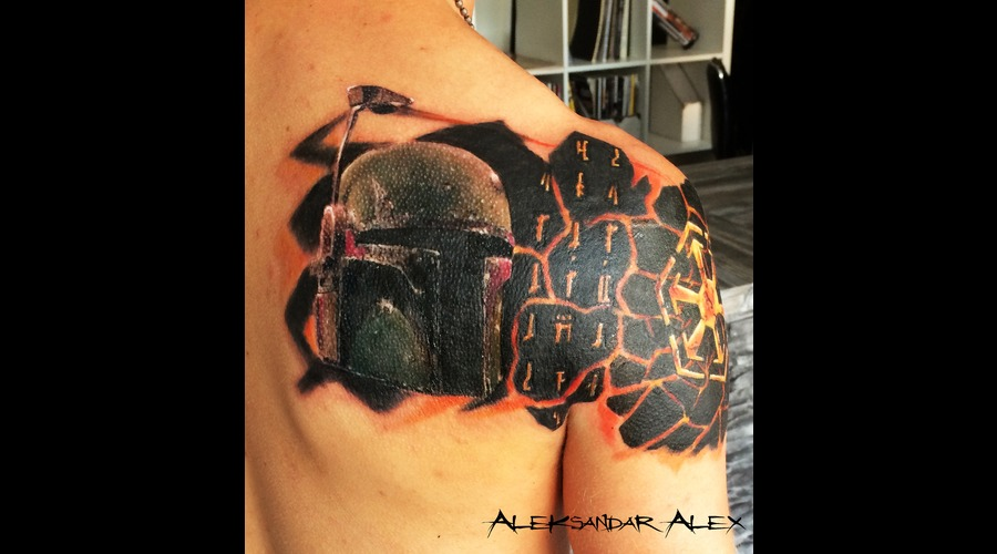 Buba Fett  Star Wars  Color  Realistic Back
