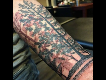 Tattoo  Art  Trees  Dotwork    Forearm