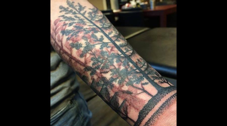 Tattoo  Art  Trees  Dotwork    Forearm