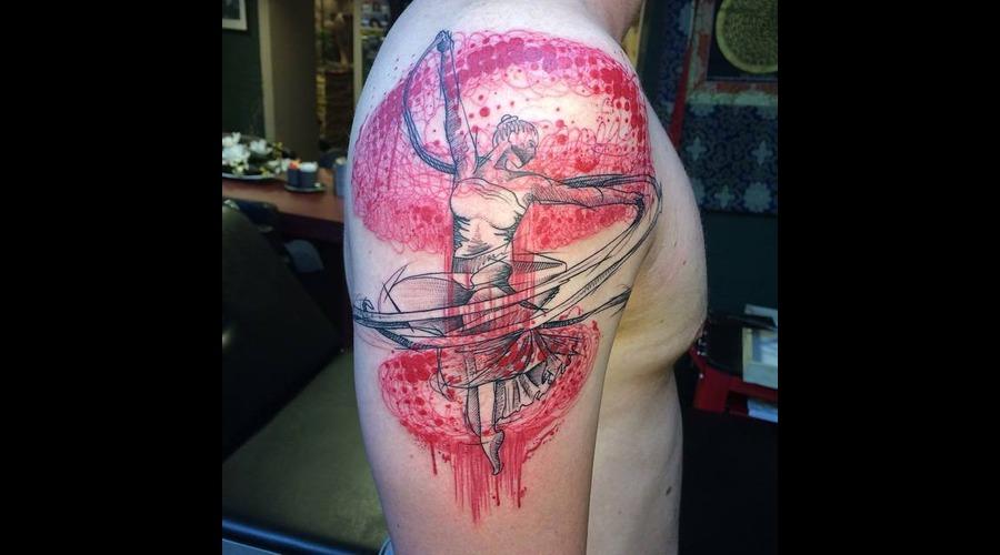 Tattoo  Art  Balletdancer  Sketchy Arm