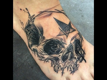 Tattoo  Art  Skull  Sketchy Foot