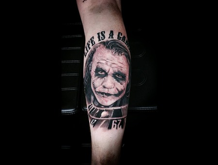Tattoo  Art  Joker Lower Leg