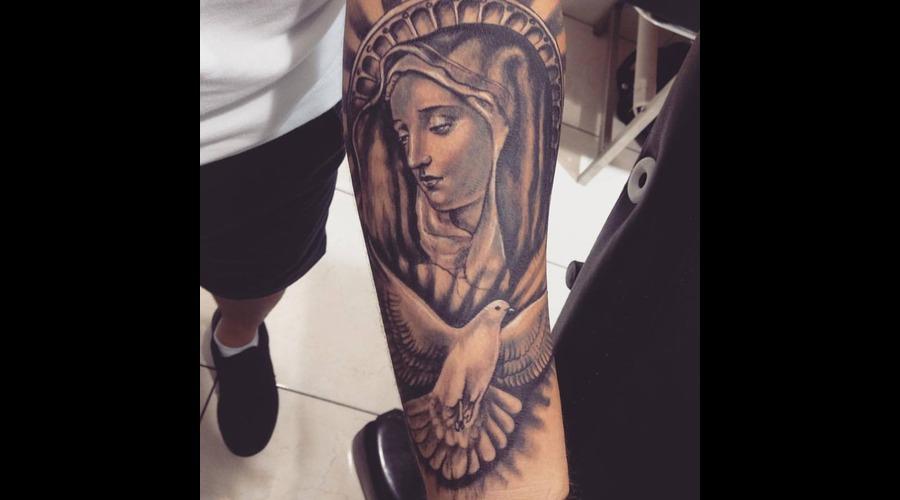 #Ledjaqereshnikutattoo#Religioustattoo#Realistictattoo#Saintmary#Santamaria Forearm