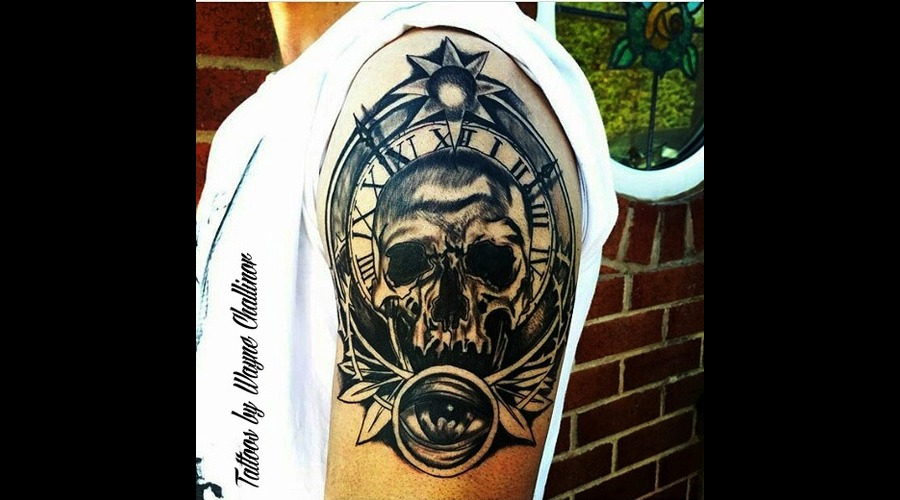 Skull/Clock Shoulder